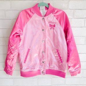 Disney Store Princess Pink Varsity Jacket 7/8